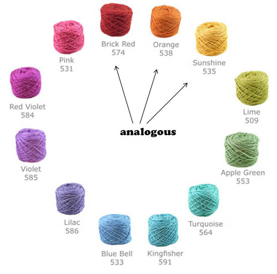 Color Theory 101 selecting yarns that go together Shiny Happy World