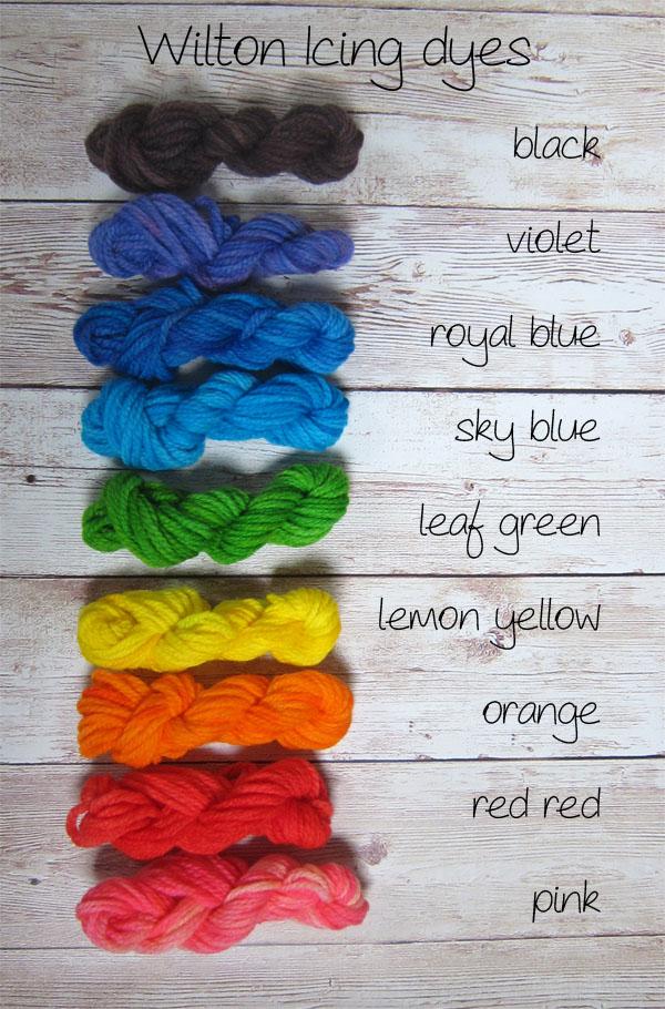 Dye yarn with Wilton Icing Dye! Shiny Happy World