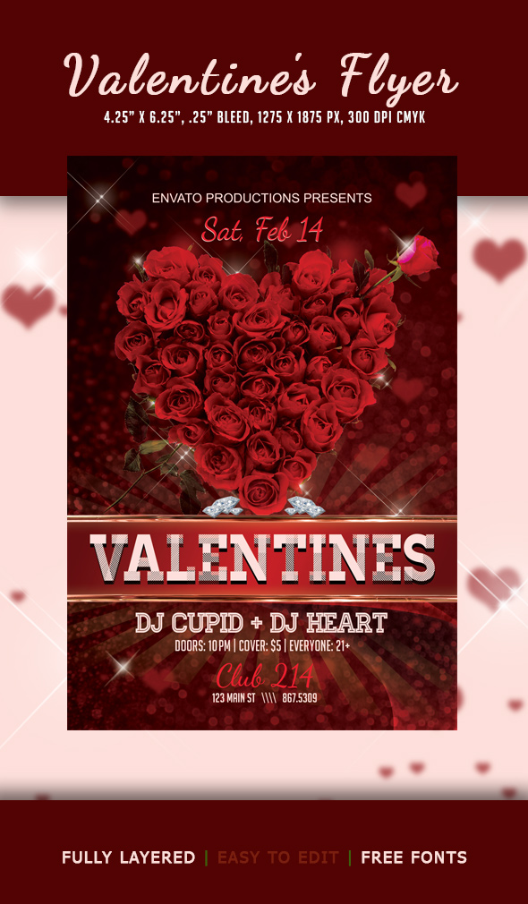 Valentine\u0027s Day Flyer - Club Flyer - Fresh View Concepts