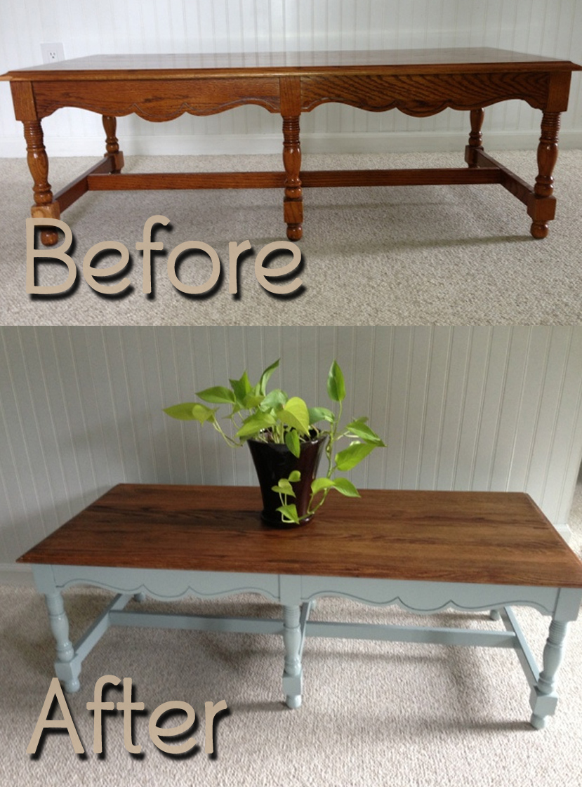 Square Kitchen Island Bench Before & After - Fresh Vintage Nc