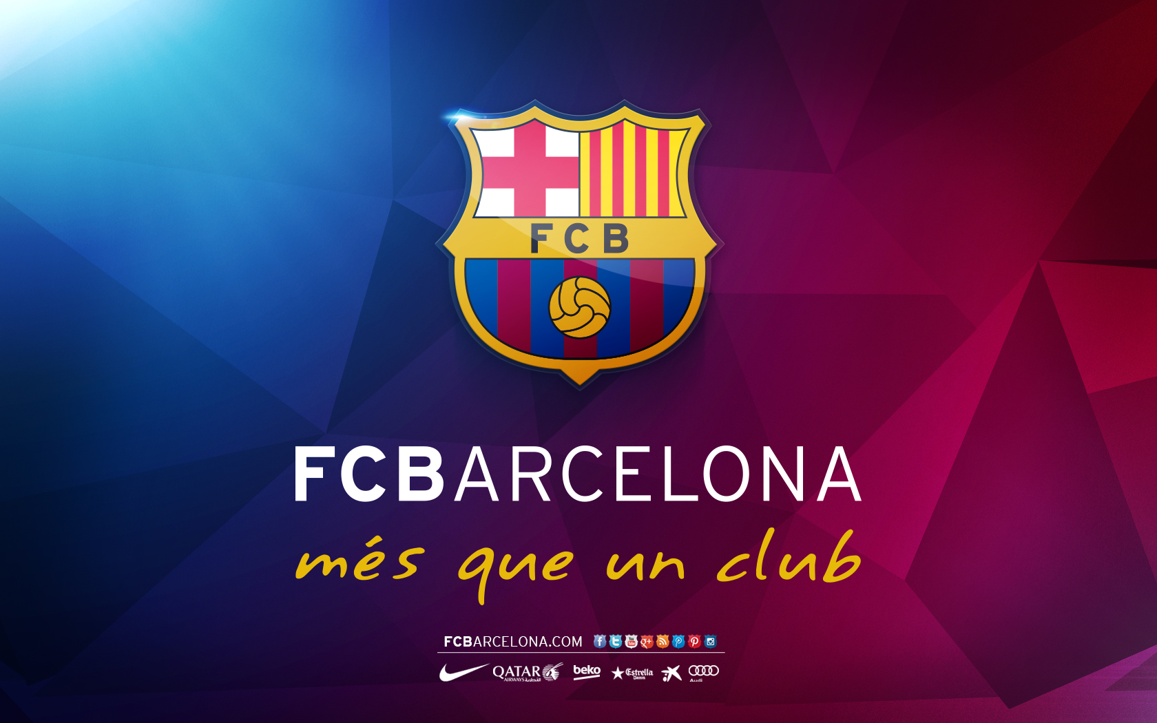 Wallpapers Wide With Quotes Fc Barcelona Mes Que Un Club Logo Wallpapers