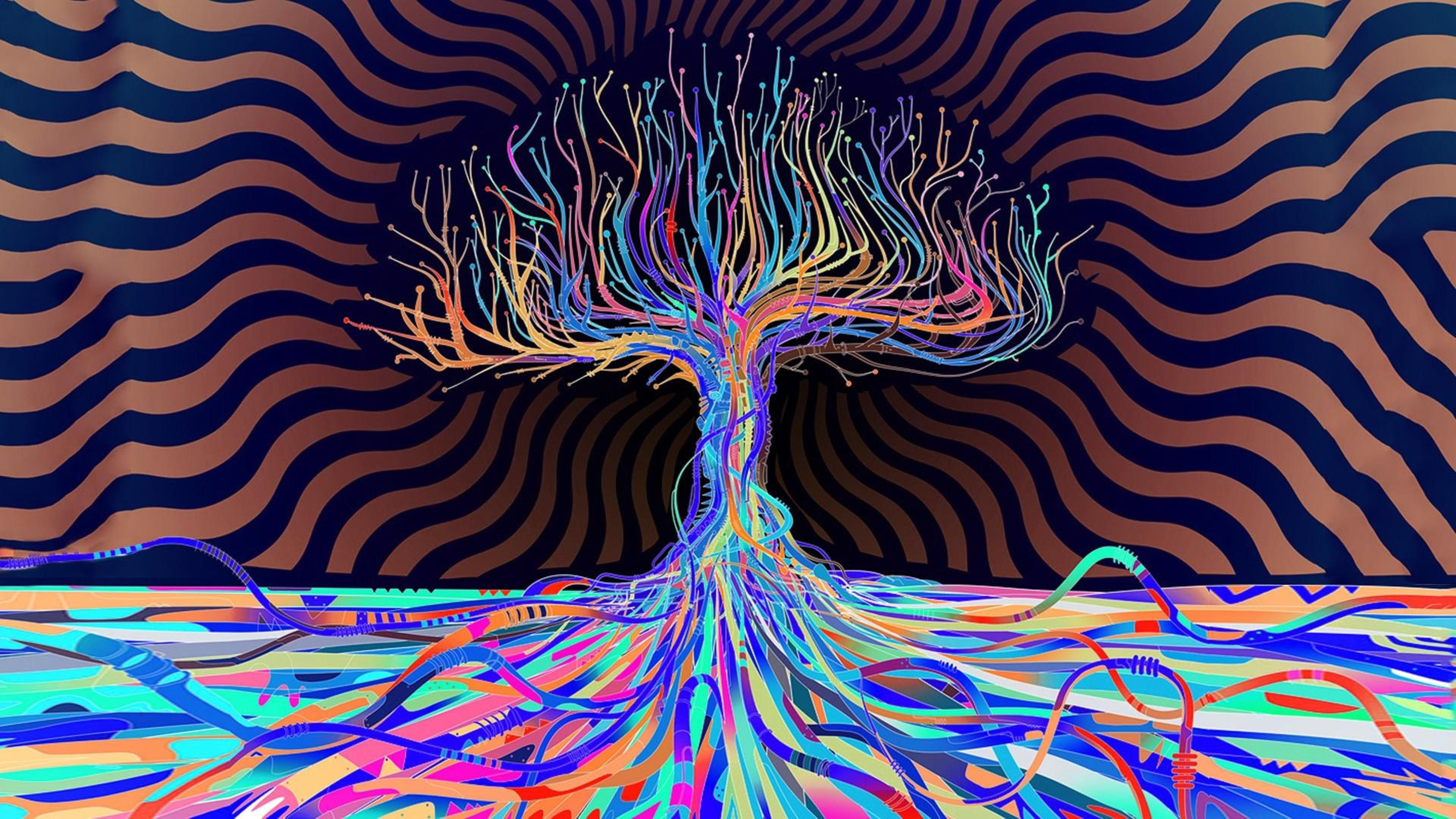 Cute Food Quotes Wallpaper Psychedelic Colors Abstract Tree Wallpapers