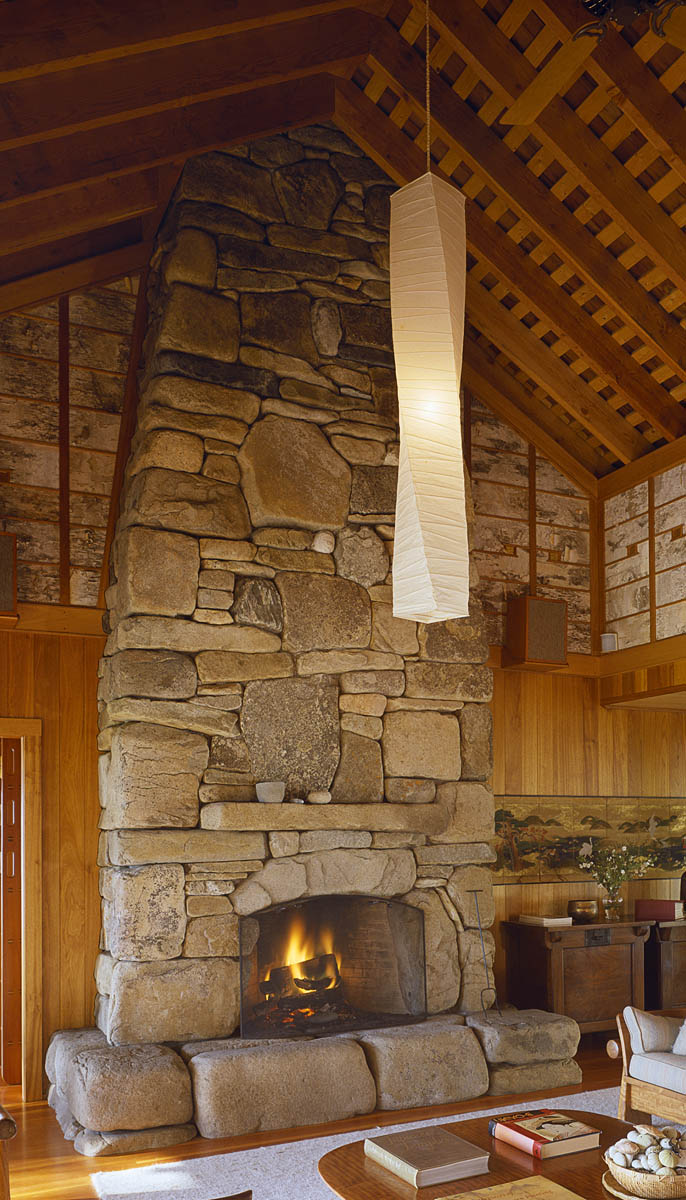 Fireplace Stone Fireplace And Chimney Freshwater Stone