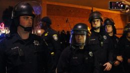 Oakland police last night detained 52 peaceful demonstrators 3
