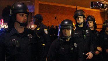 Oakland police last night detained 52 peaceful demonstrators 3