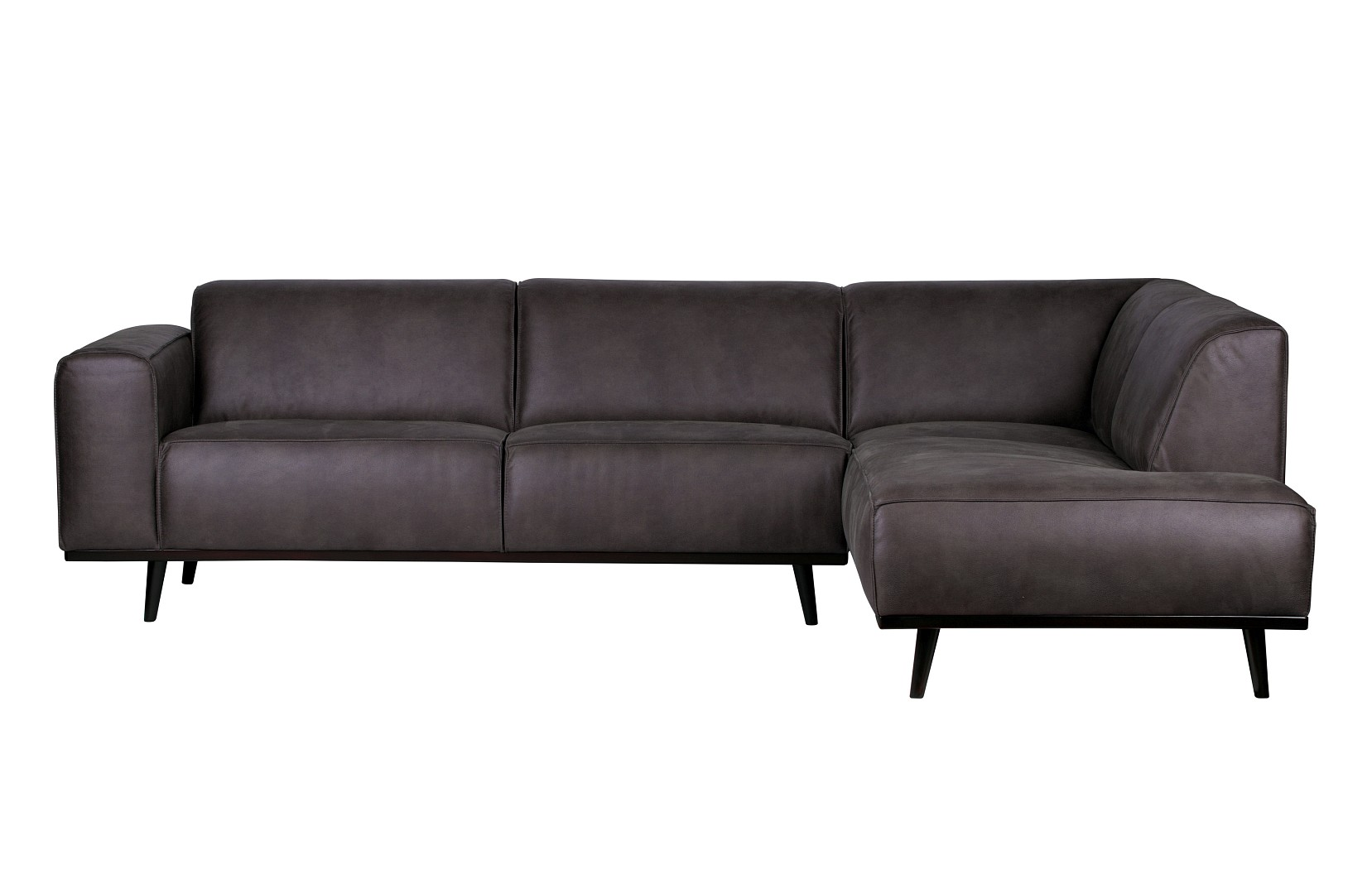 Samtsofa Rodeo Ecksofa Recycle Leder Statement Dunkelgrau Rechts Oder Links 274 X 210