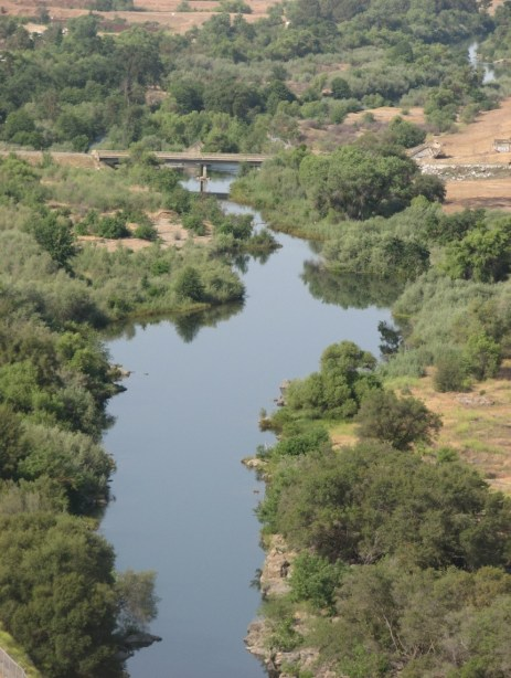 The San Joaquin River's prime salmon spawning reach, located just downstream from Friant Dam.