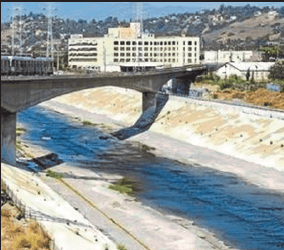 The Los Angeles Rivers flows with dry weather runoff that is typical of water waste that Southland officials want to tap.