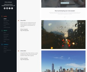 Design a Stylish Timeline Portfolio Page Using Photoshop