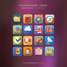 5 O'clock Shades Icons Freebie [Exclusive]