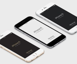 3D View iPhone 6 Vector Mockup