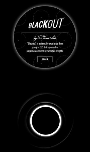 Blackout CSS Experiment