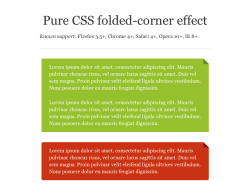 Pure CSS Folded-Corner Effect