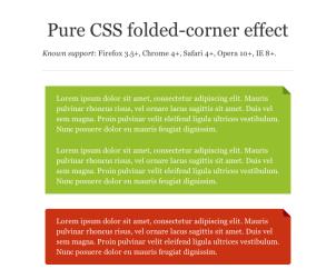 Pure CSS Folded-Corner Effect