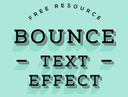 Bounce Text Effect