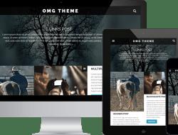 OMG Free WordPress Blogging Theme