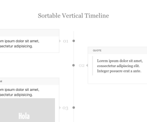Sortable Vertical Timeline