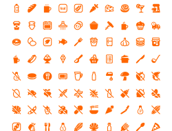 100 Free Vector Food and Cooking Icons