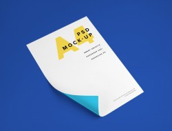 A4 Paper Free MockUp