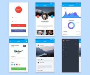 Material Design Mobile UI Kit