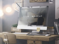 Free iMac Desktop Mockup