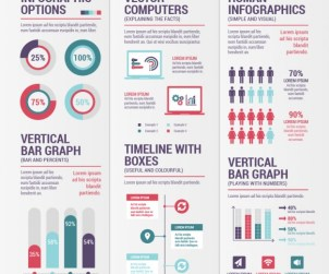 Variety of Free Infographics Vector Elements