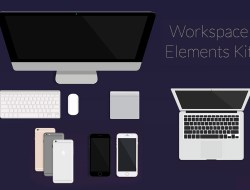 60 Free Elegant Vector Workspace Elements