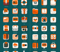 Free 42 Flat iOS Icon Set