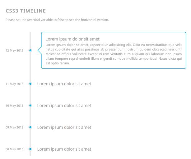 Responsive CSS3 Timeline
