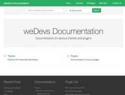 weDocs Free Documentation WordPress Theme