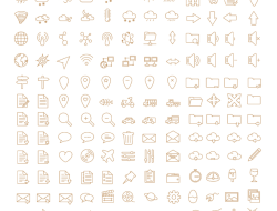 450+ Free Simple Oultine Icons