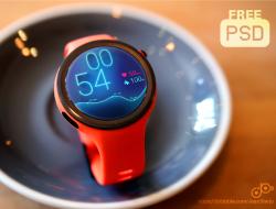 Moto360 Sport Smart Watch Mockup