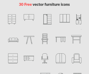30 Free Vector Furniture Icons