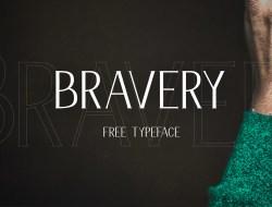 Bravery Free Display Font