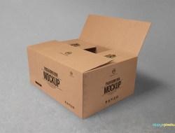 Free Cardboard Box Mockup