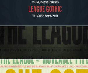 League Gothic Free Font