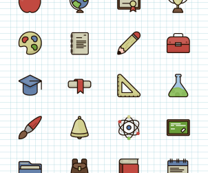 20 Free Vector Education Icons