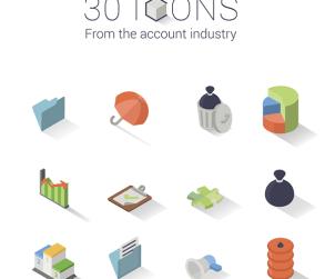 30 Isometric Icon Set