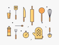 Kitchen Tools Illustration