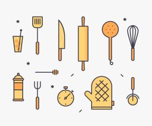 Kitchen Tools Illustration