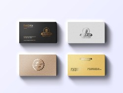 Foil Business Cards Mockup