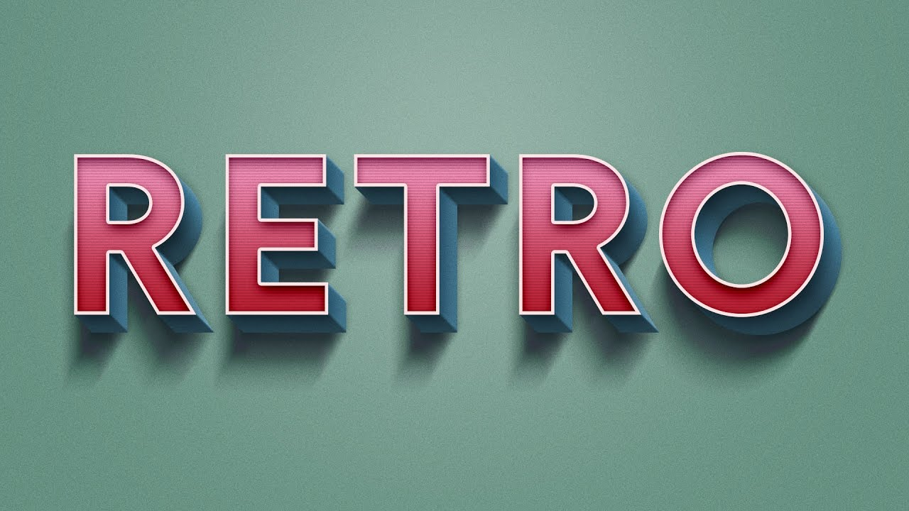 I Letter 3d Wallpapers How To Create Retro Text Effect In Adobe Photoshop