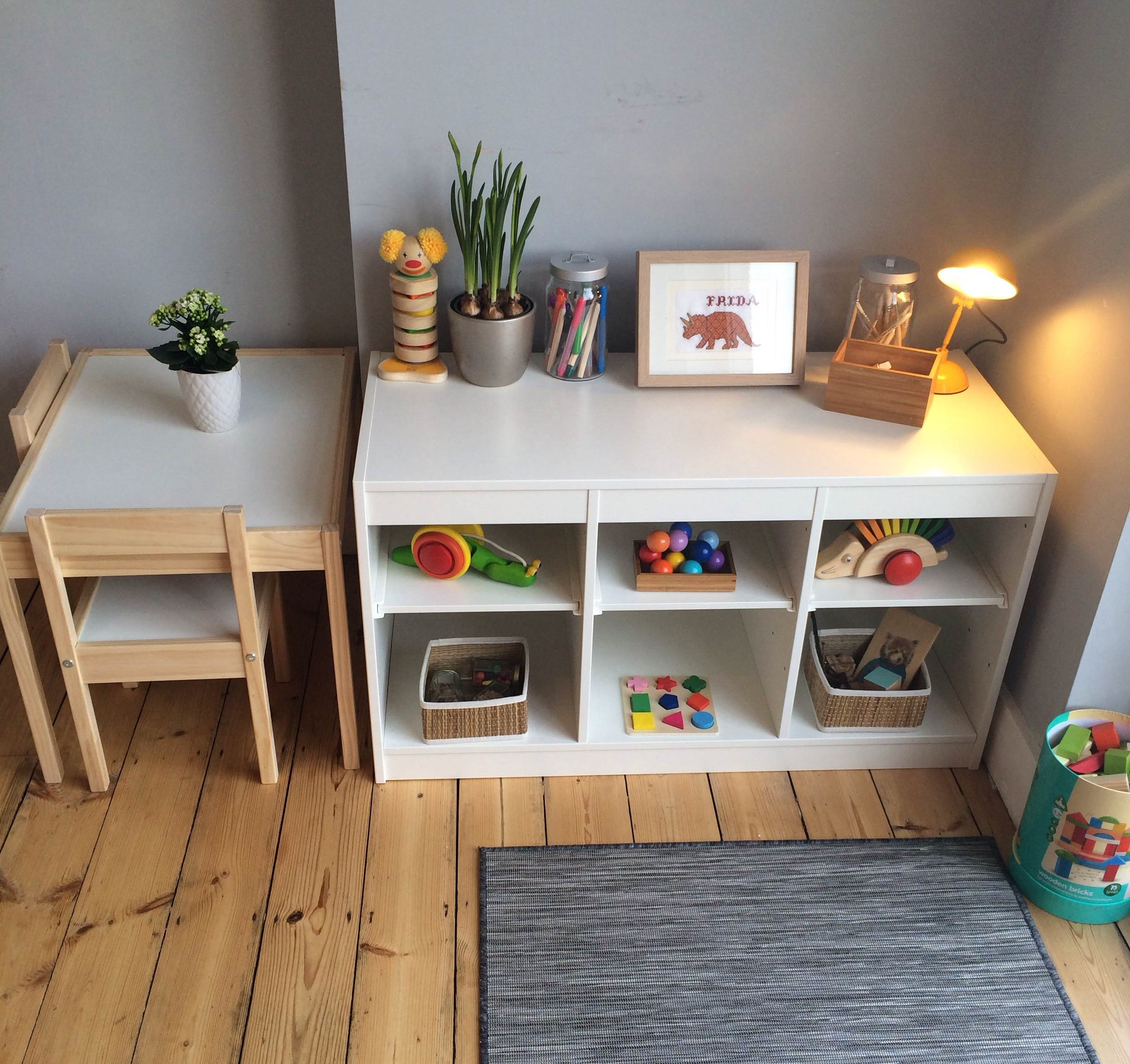 Trofast Montessori Montessori In The Home A Baby Friendly Dining Room Frida Be Mighty
