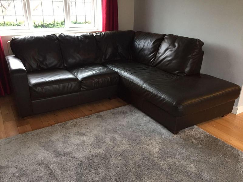 Leather Sofas In Eastbourne Full Leather Dfs Corner Suite Arm Chair And Foot Stalls In