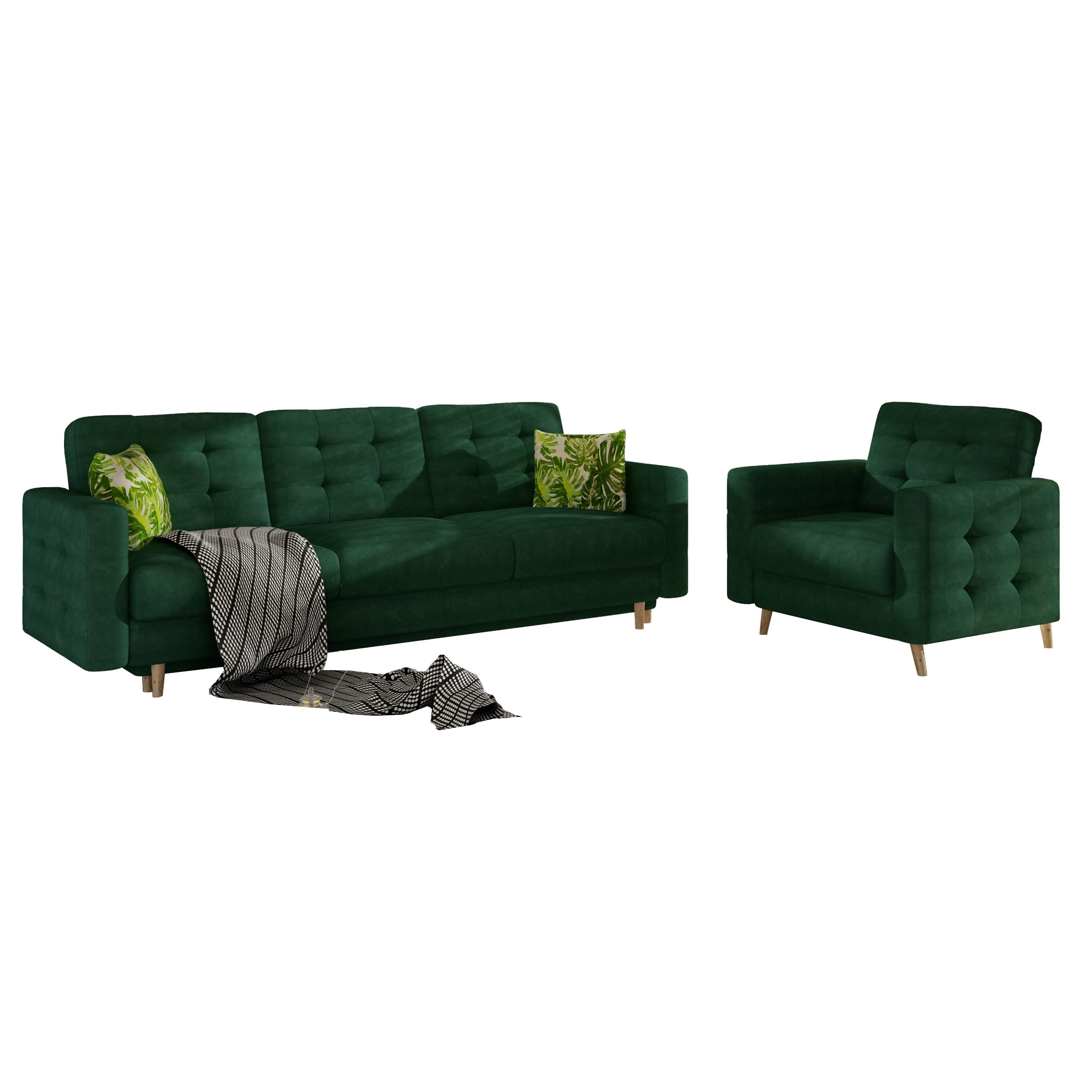 Couch Sessel Wohnlandschaft Sofa Sessel Set Astor - Friderik.eu