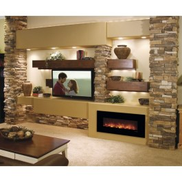 Modern Flame Slim Fire Electric Fireplace Lifestyle