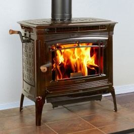 HearthStone Manchester Cast Iron Wood Stove Enamel Brown