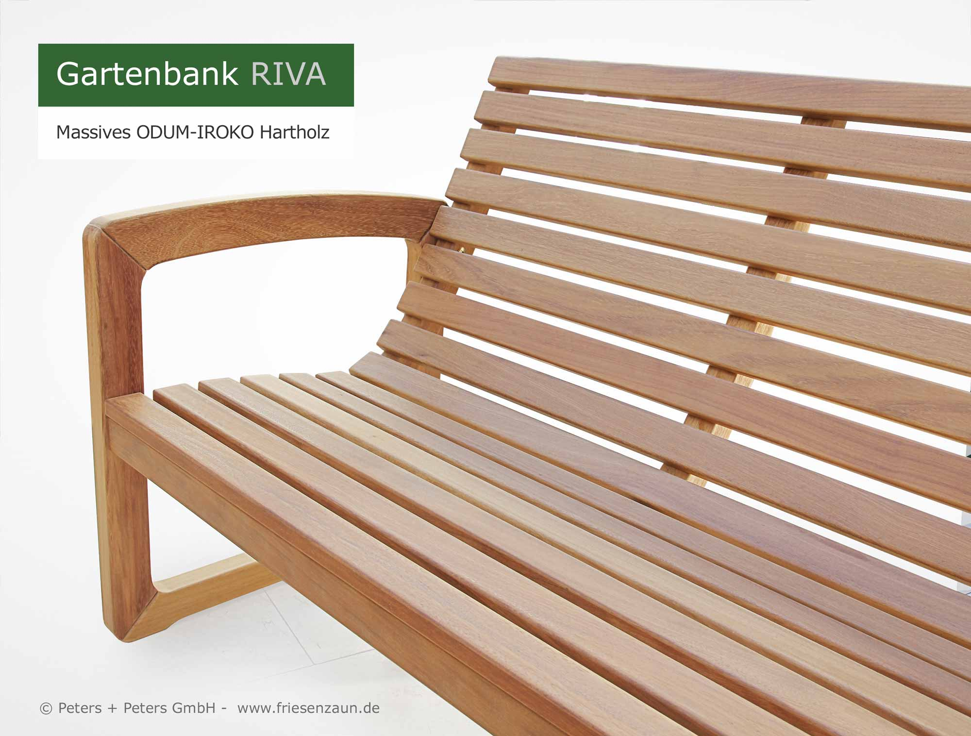 Holzbank Outdoor Friesenbank Shop Riva 3er