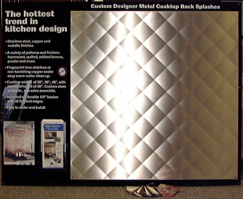 Kitchen Cabinets And Countertops Quilted Stainless Steel Backsplash | Frigo Design