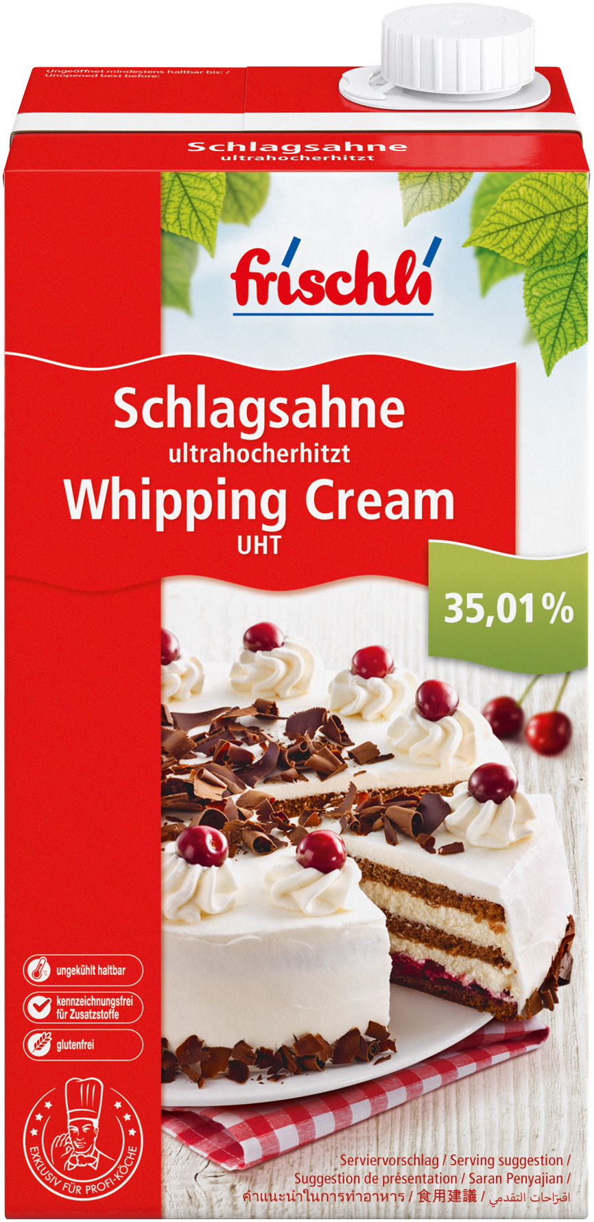 Kuchen 20 Cm Frischli Dairy And Food Downloads Whipping Cream